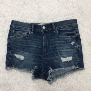 Abercrombie & Fitch High Rise Cutoff Jean Shorts
